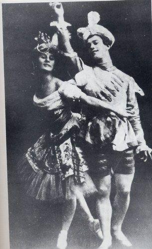 Anna Pavlova et Vaslav Nijinski dans Le Pavillon d'Armide