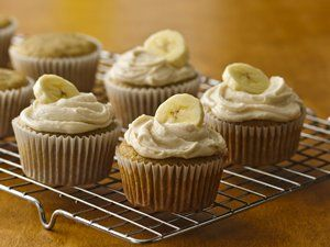 Banana Cupcales with Brown Butter Frosting