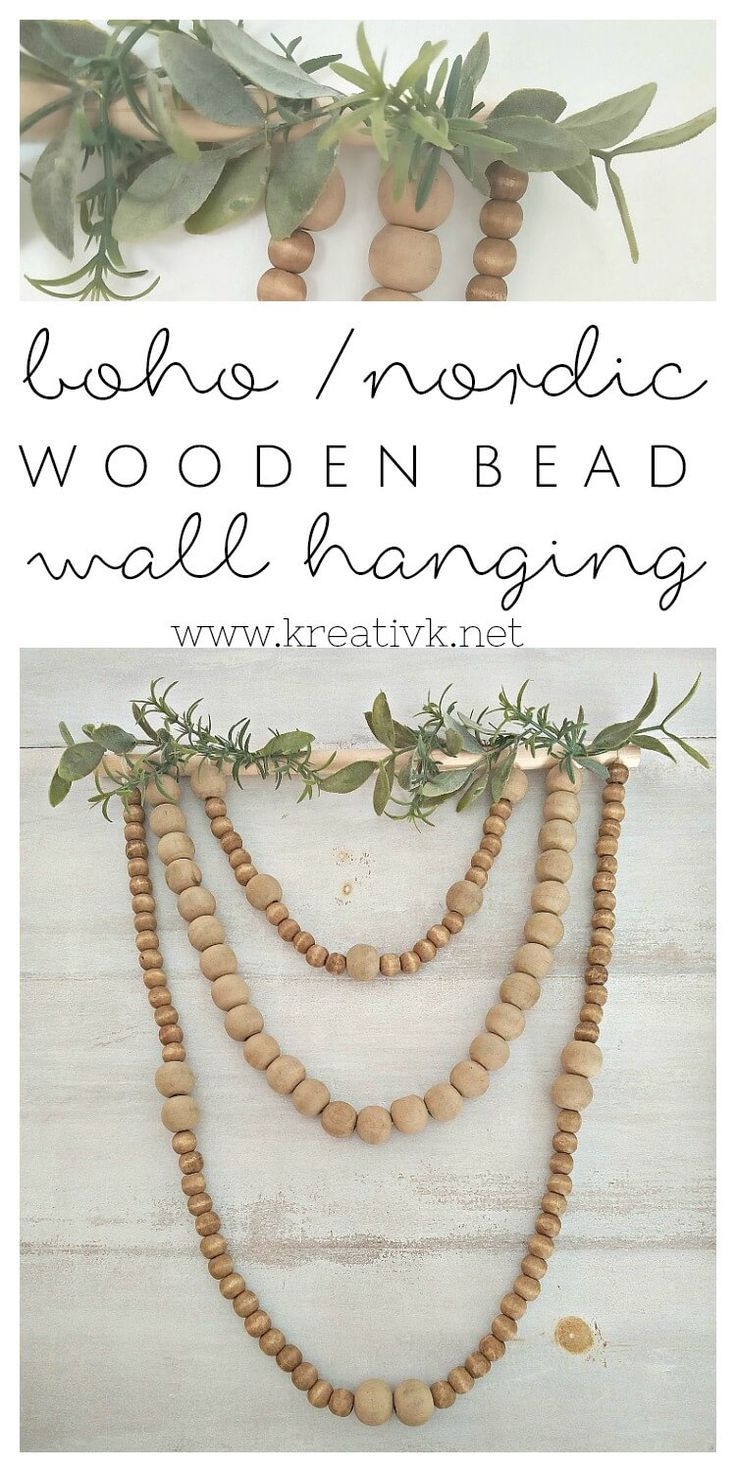 Boho Nordic Wooden Bead Wall Hanging Decorate Diy Projects