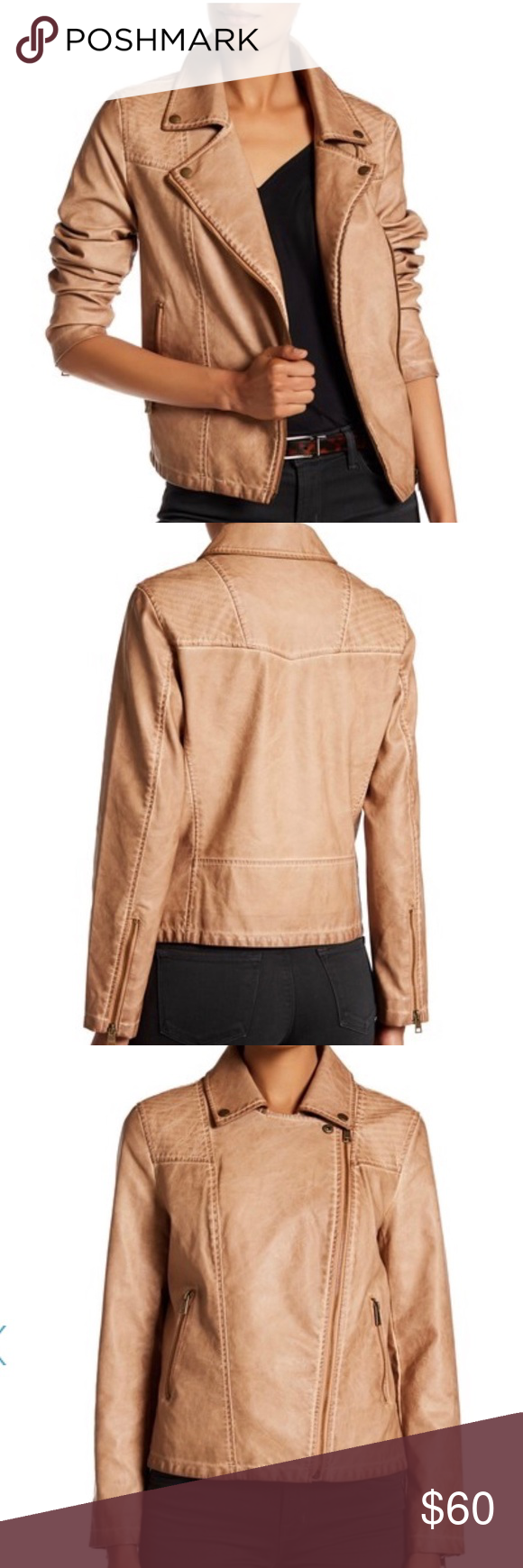 NWT Nordstrom's Faux Leather Jacket NWT (With images