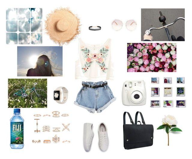 """""""今日はどこまでも行けそうな気がする!"""" by unaplanet0214 ❤ liked on Polyvore featuring Kate Sheridan, Humble Chic, H&M, Chloé, Barclay Butera, Dot & Bo, Fujifilm and New Look"""