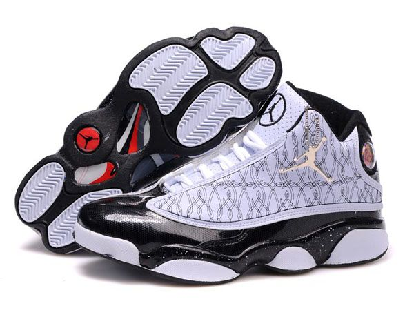 1dfb006c12f93a Desirable Air Jordan Retro 13 In White Black Embroidery Basketball Men Shoes  Inexpensive