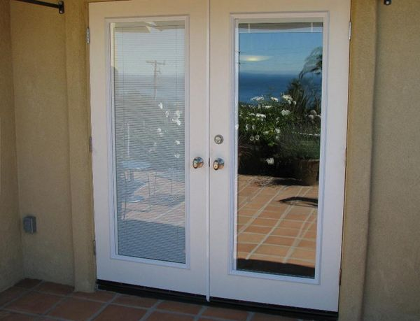 French Patio Doors With Blinds Inside Glass French Doors