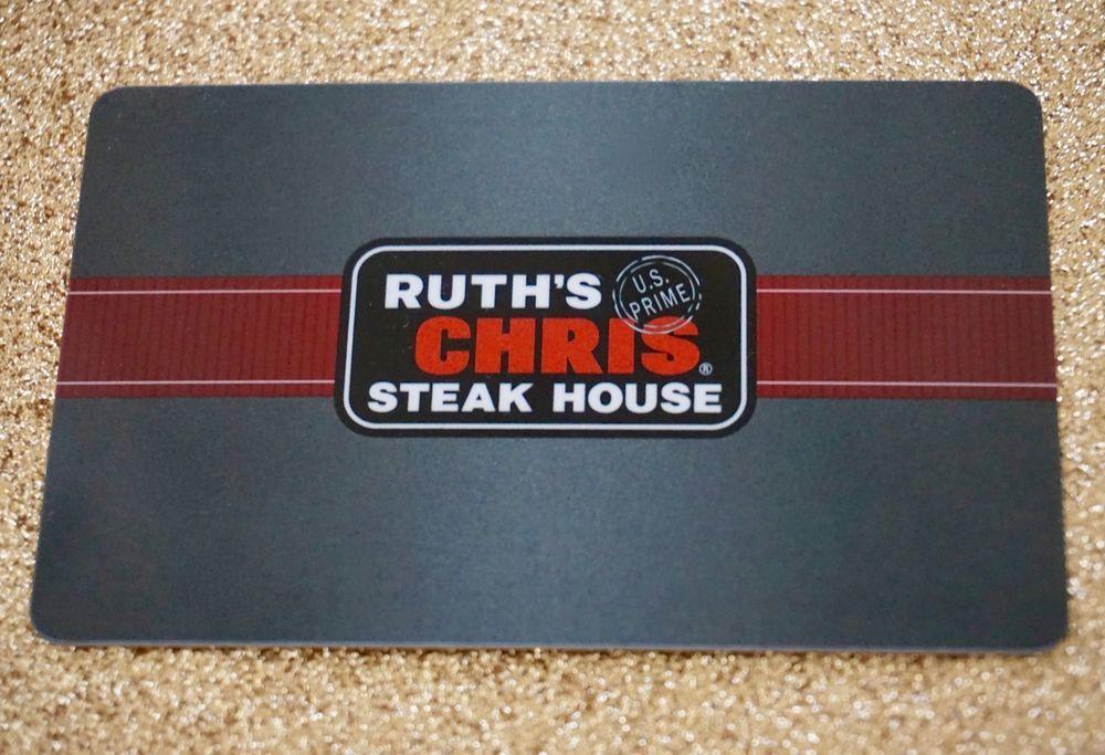 89.95 Ruth Chris Steak House 100 Gift Card No