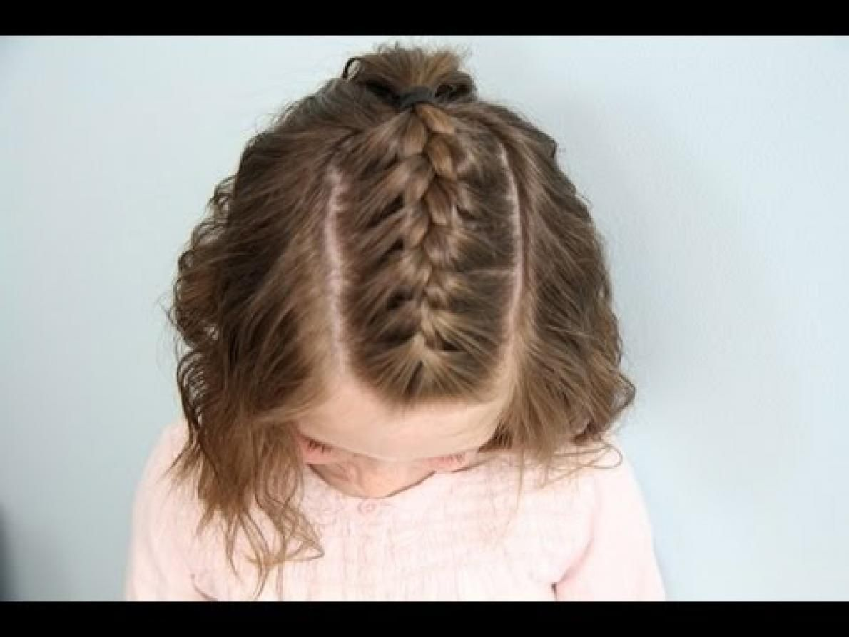 Braided Hair Styles For Little Girls: Back Post Simple Cute Braided Hairstyles For Short Hair
