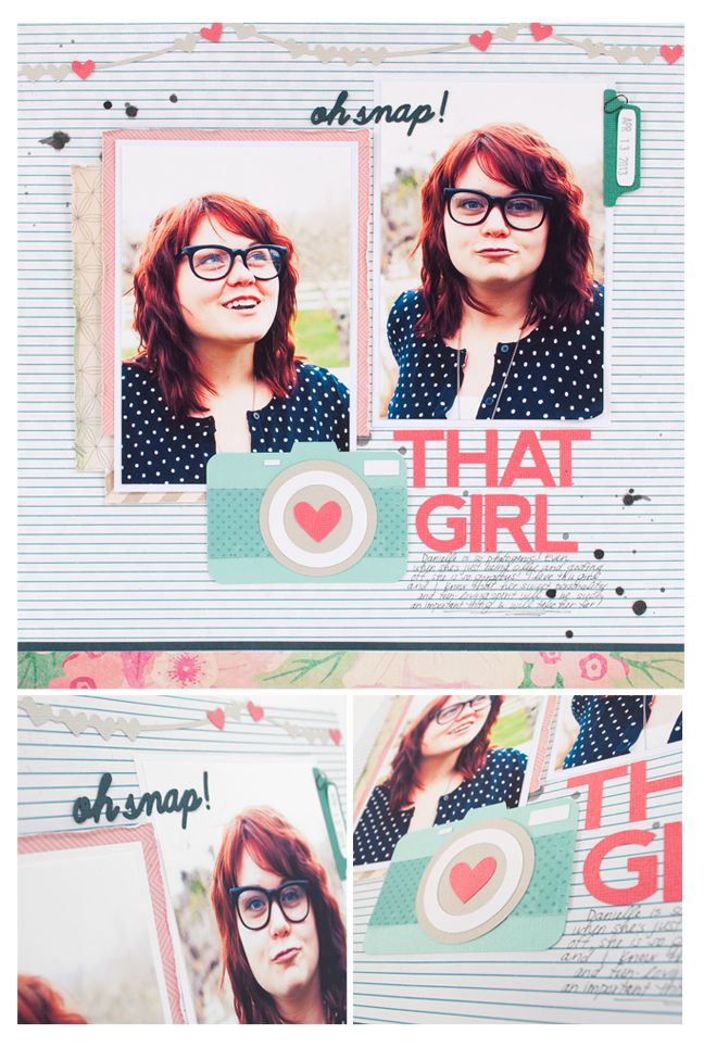 That Girl Layout -  featuring the new adhesive backed cardstock
