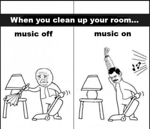 Oh...that's me. Hate cleaning without music jams! lol