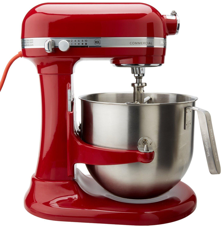 Empire red 8quart commercial kitchenaid mixer uses a