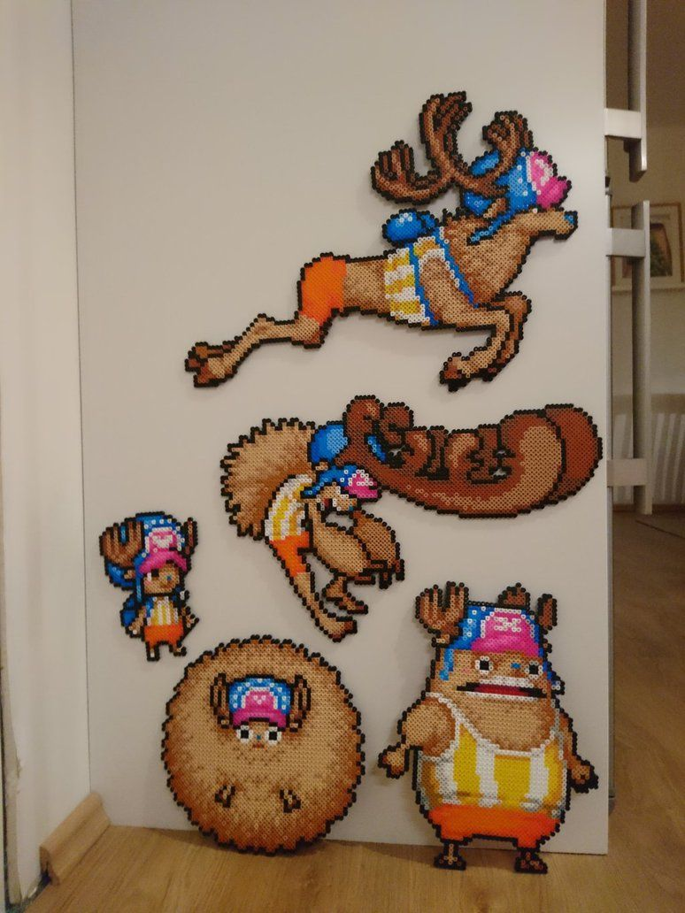 One Piece Character #6. Tony Tony Chopper + forms by MagicPearls | Anime pixel art, Nerdy perler ...