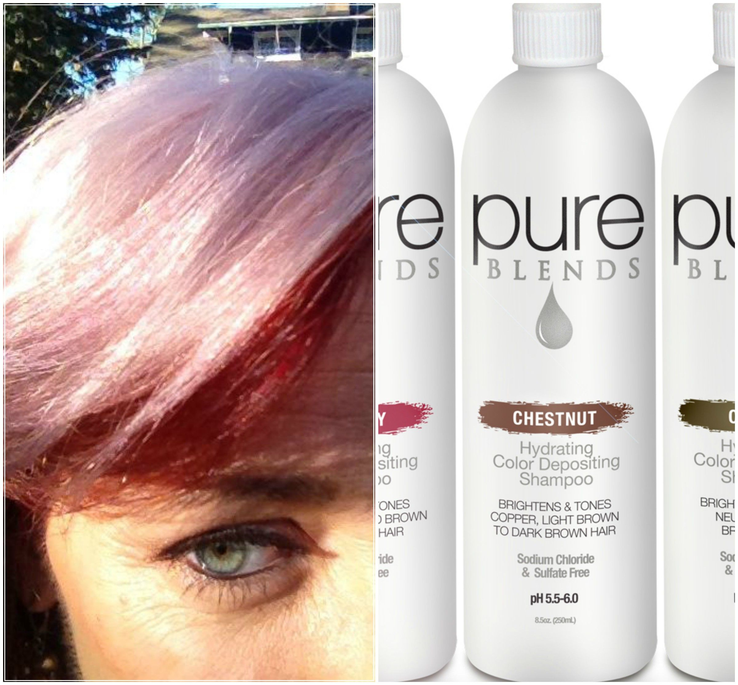 Use Pure Blends Chesnut To Deposit A Pink Tone On Pre Lightened Hair Color Depositing Shampoo