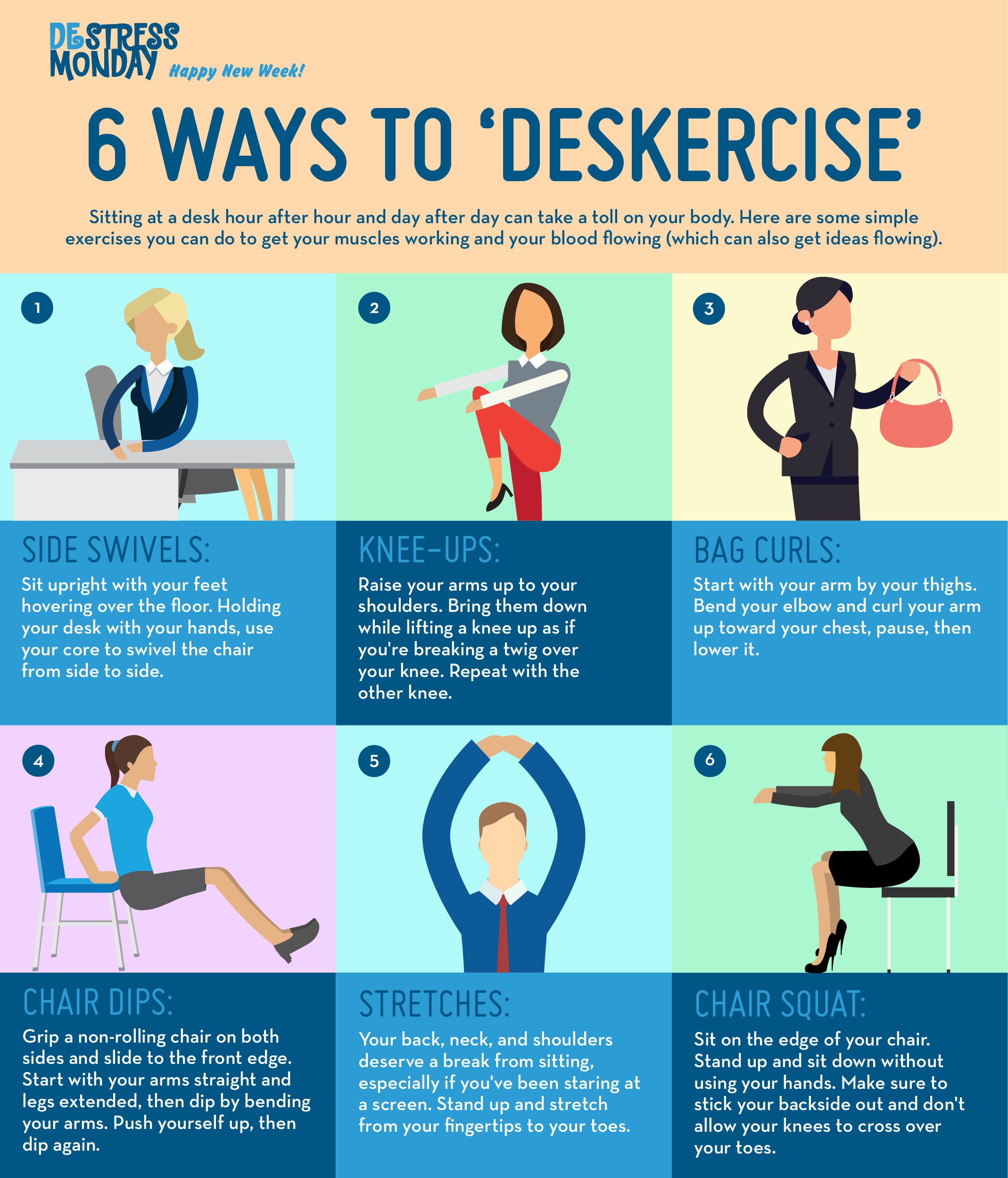 Mini Workouts At Your Desk Fitness Fitfam Workout Workingmom Easy Workouts Deskercise Mini Workouts