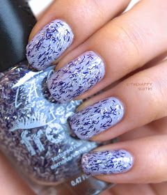 "la girl feather frenzy nail polish in ""oriole"" and"