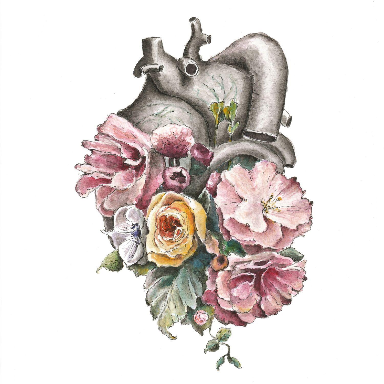 Flora Anatomy: Heart | Tattoo | Pinterest | Cuerpo humano, Cuerpo y ...
