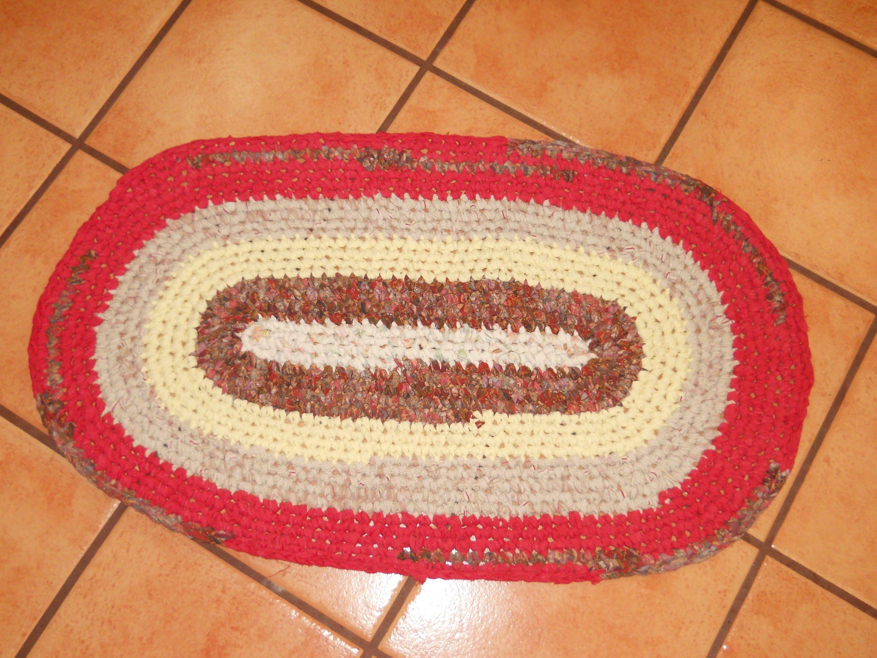 Crochet Oval Rag Rug Tutorial For Beginners 101 Part 2 Rag Rug Tutorial Crochet Rag Rug Rug Tutorial