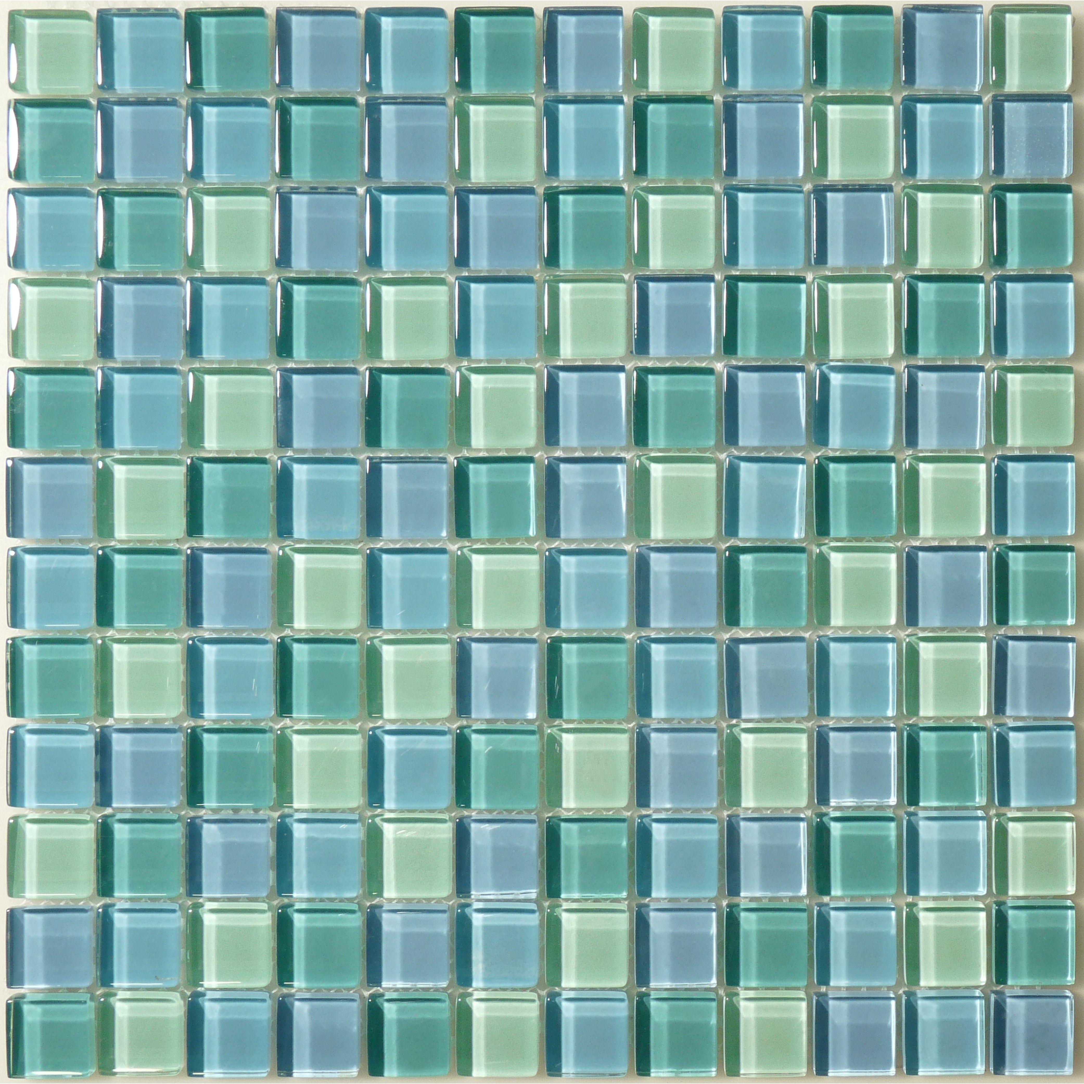 Gc82323t1 Turquoise Blue Blend 1 Sea Glass Tile Mosaic Pool Mosaic Pool Tile