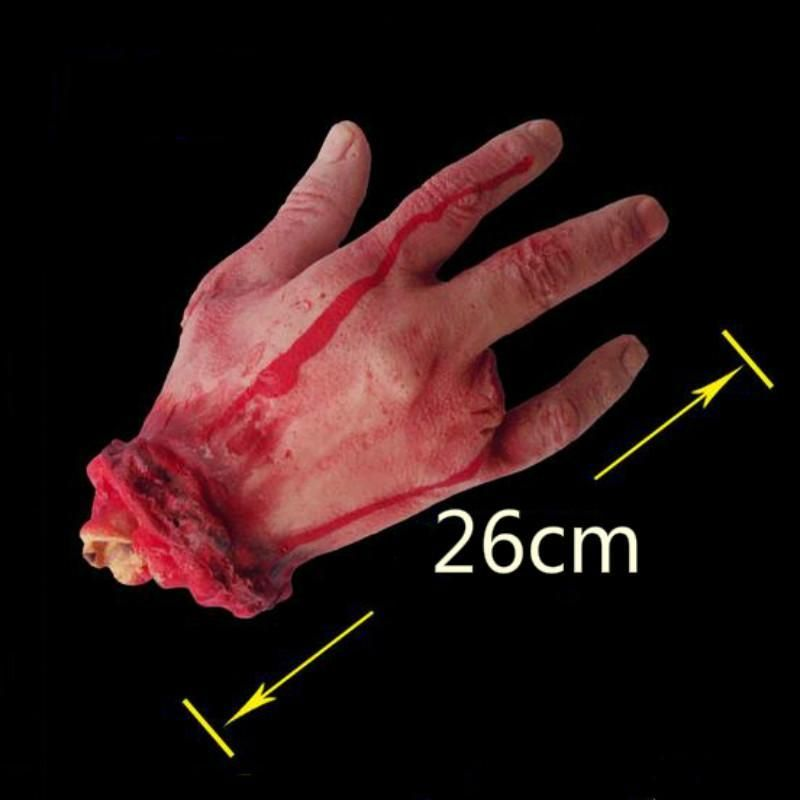 Scary Halloween Prop Hand Size Bloody Hand Haunted Party Decoration
