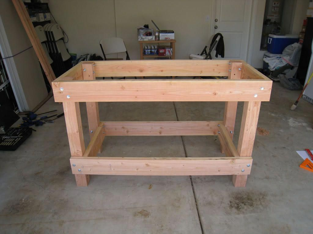 Wood Workbench Plans With Images #Woodprojects | Garage work
