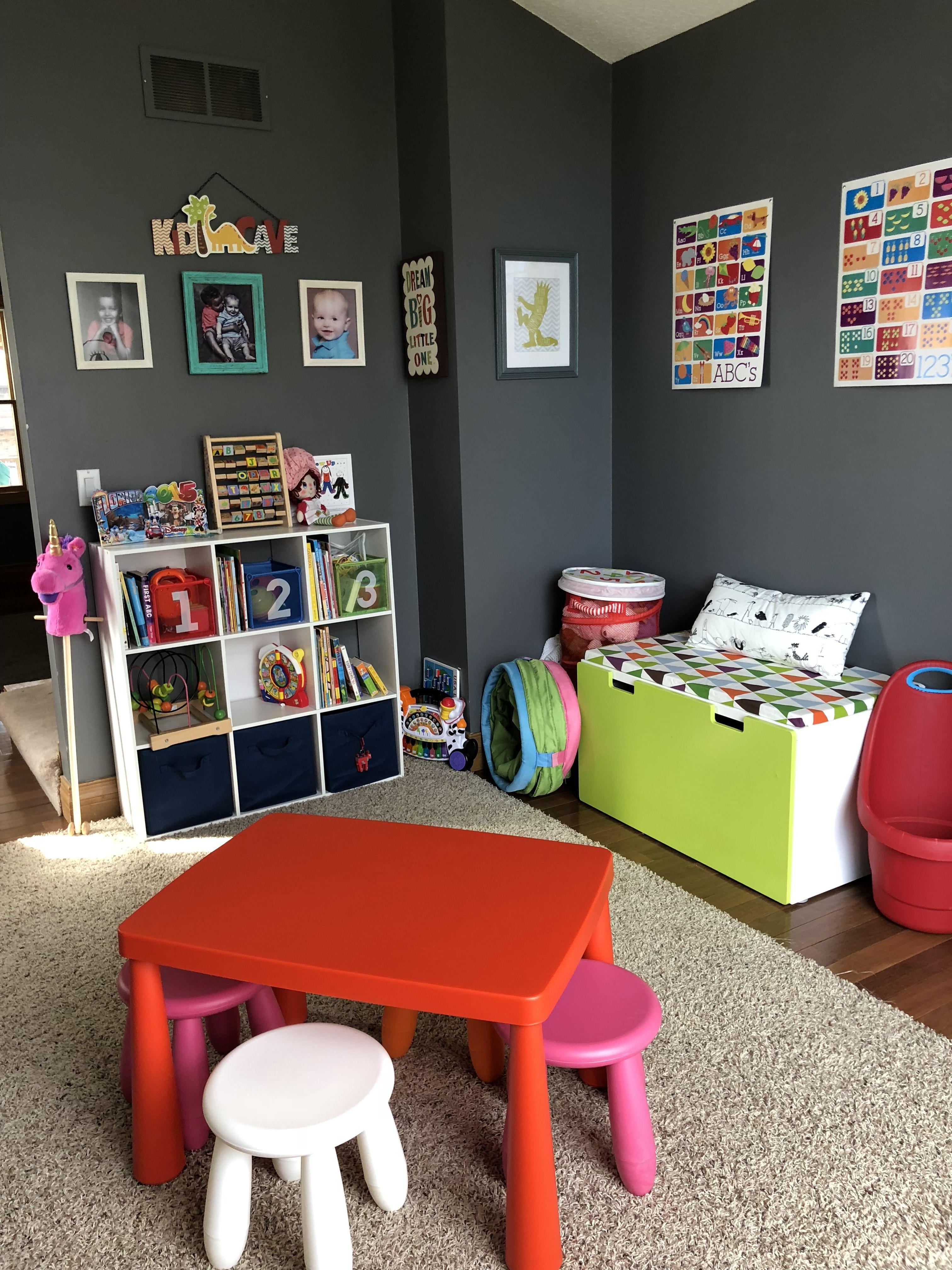 Colorful playroom simple organized playroom colorful