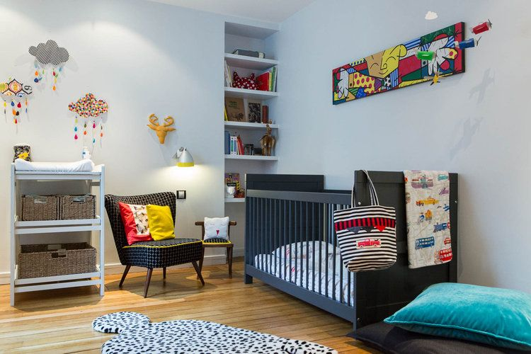 Une chambre d 39 enfant color e chambre h lori pinterest chambre enfant chambre et deco - Chambre enfant coloree ...