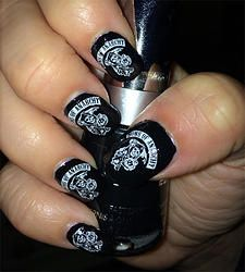Sons Of Anarchy Nail Art Decals Harley Davidson