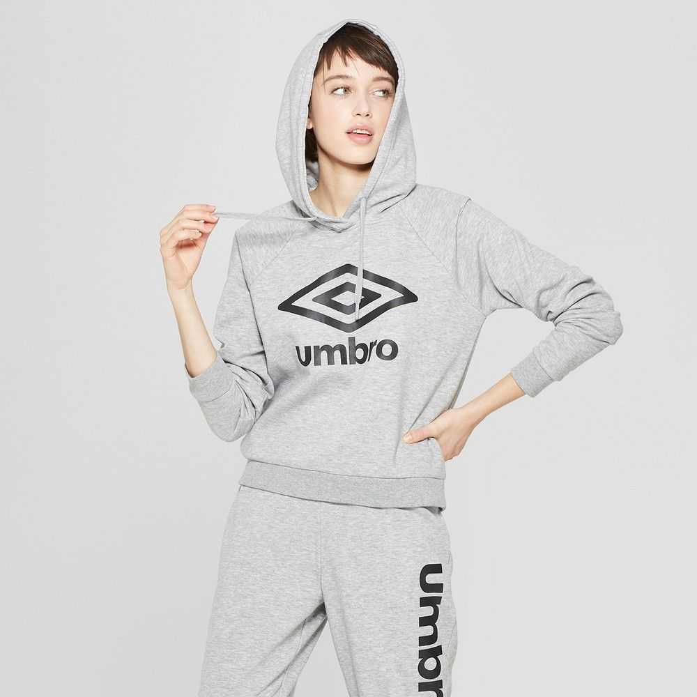 ae627047fc4 Umbro Women's Cropped Logo Hoodie Mid Grey Xxl in 2019 | Products ...