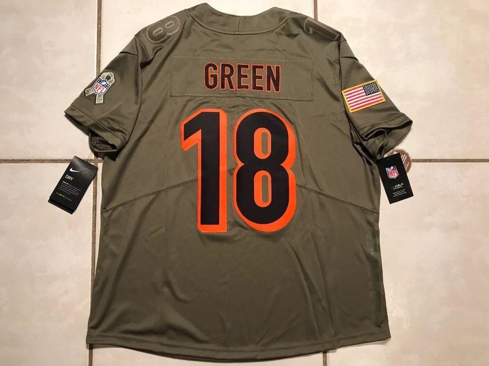 cf5a91b1 NWT NIKE Cincinnati Bengals A.J. Green Salute To Service NFL Jersey ...