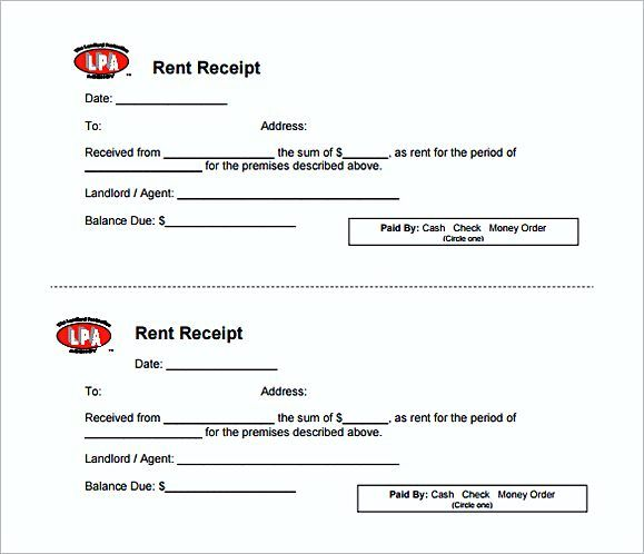 Rent Invoice Template , Knowing Some Details About Rent Invoice - money receipt word format
