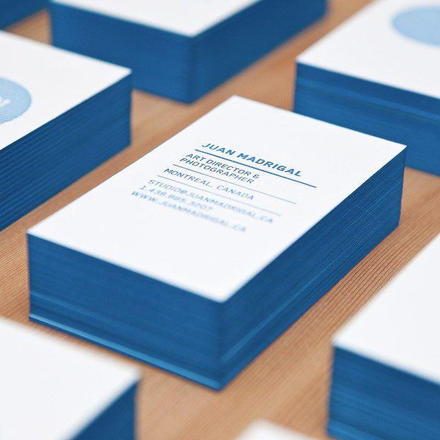 Carte De Visite Paisses Aux Bords Colors En Bleu Raliss Par Le Graphiste Juan Madrigal