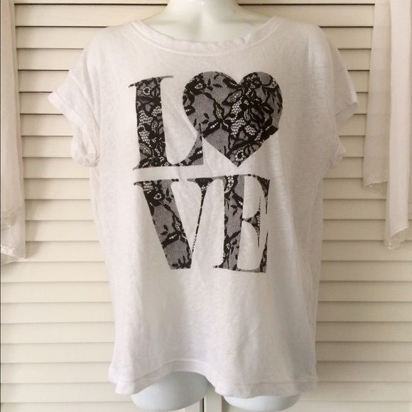 Victoria's Secret Love Lace Crop Top Lace/velvet detail - size XS - crop top - Victoria's Secret - super soft and lightweight - cute for Valentine's Day Victoria's Secret Tops Crop Tops