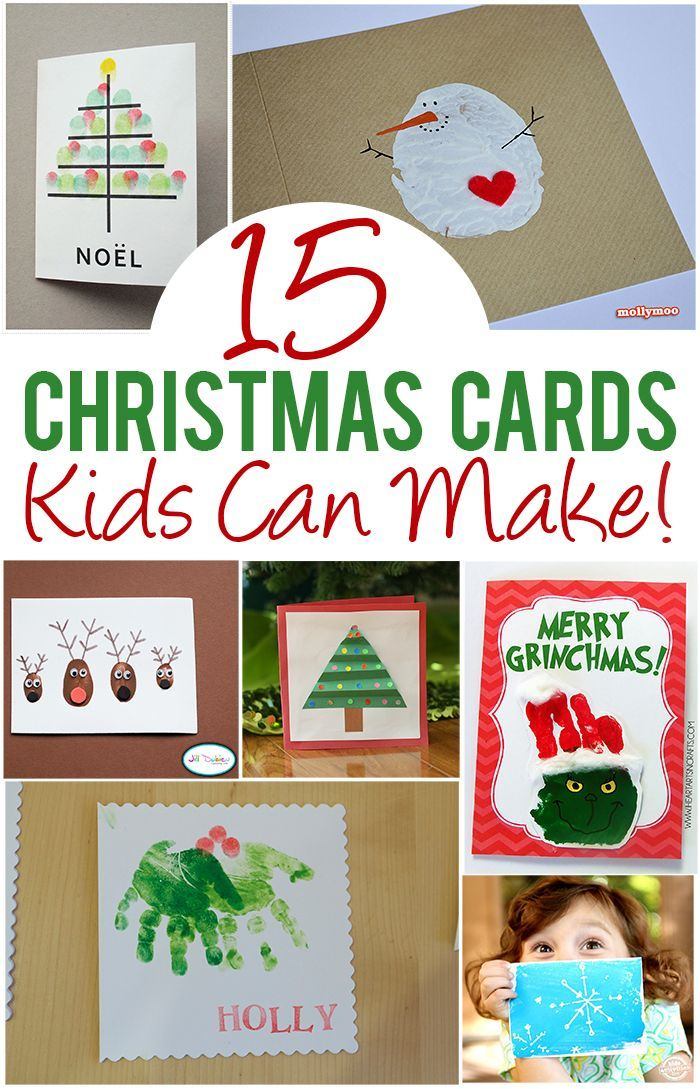 Homemade Christmas Card Ideas For Kids To Make Part - 26: 15 Christmas Cards Kids Can Make!