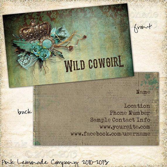Wild cowgirl design business card design plus 500 cards front and wild cowgirl design business card design plus 500 cards front and back full color reheart Gallery