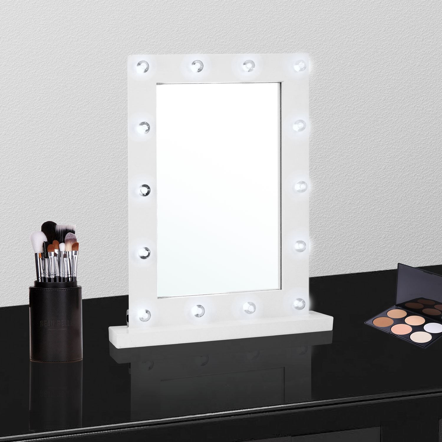 Details about Large Vanity Mirror with Light Hollywood
