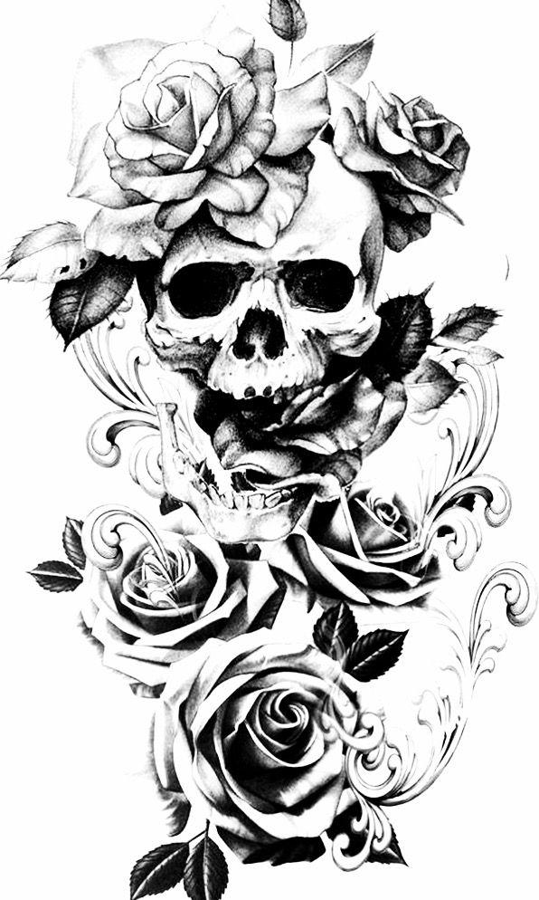 Pin by Nikki on tatts in 2020 Skull rose tattoos, Skull