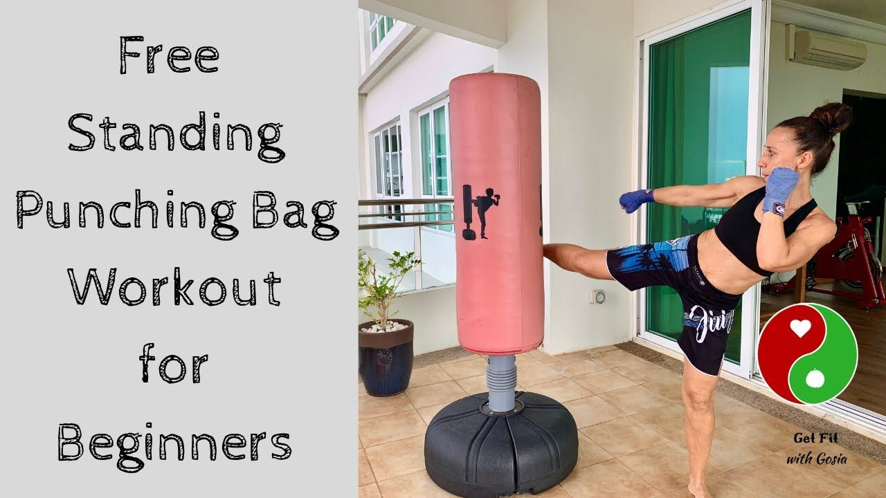 Free standing punching bag workout for beginners youtube