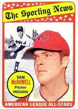 1969 Topps #435 Sam McDowell Front