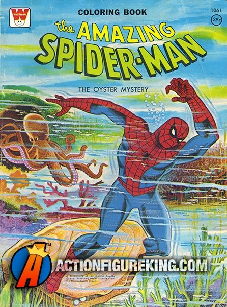 Vintage 64 Page 1976 Spider Man The Oyster Mystery Coloring Book From Whitman Check Out Our Website F Coloring Books Vintage Coloring Books Superhero Coloring