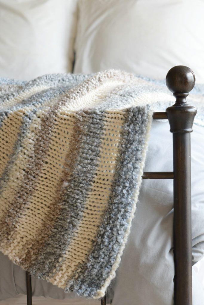 Cuddly Quick Knit Throw Blanket Pattern Knitting Crochet