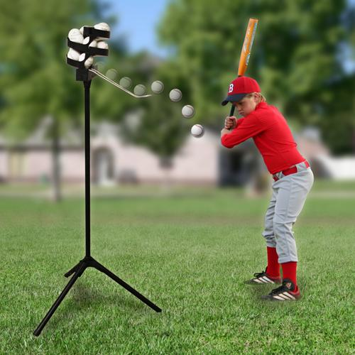 Perfect Your Swing And Your Hand Eye Coordination By Hitting Ball After Ball With The Affordable Big Leag Pitching Machine Baseball Pitching Soft Toss Baseball