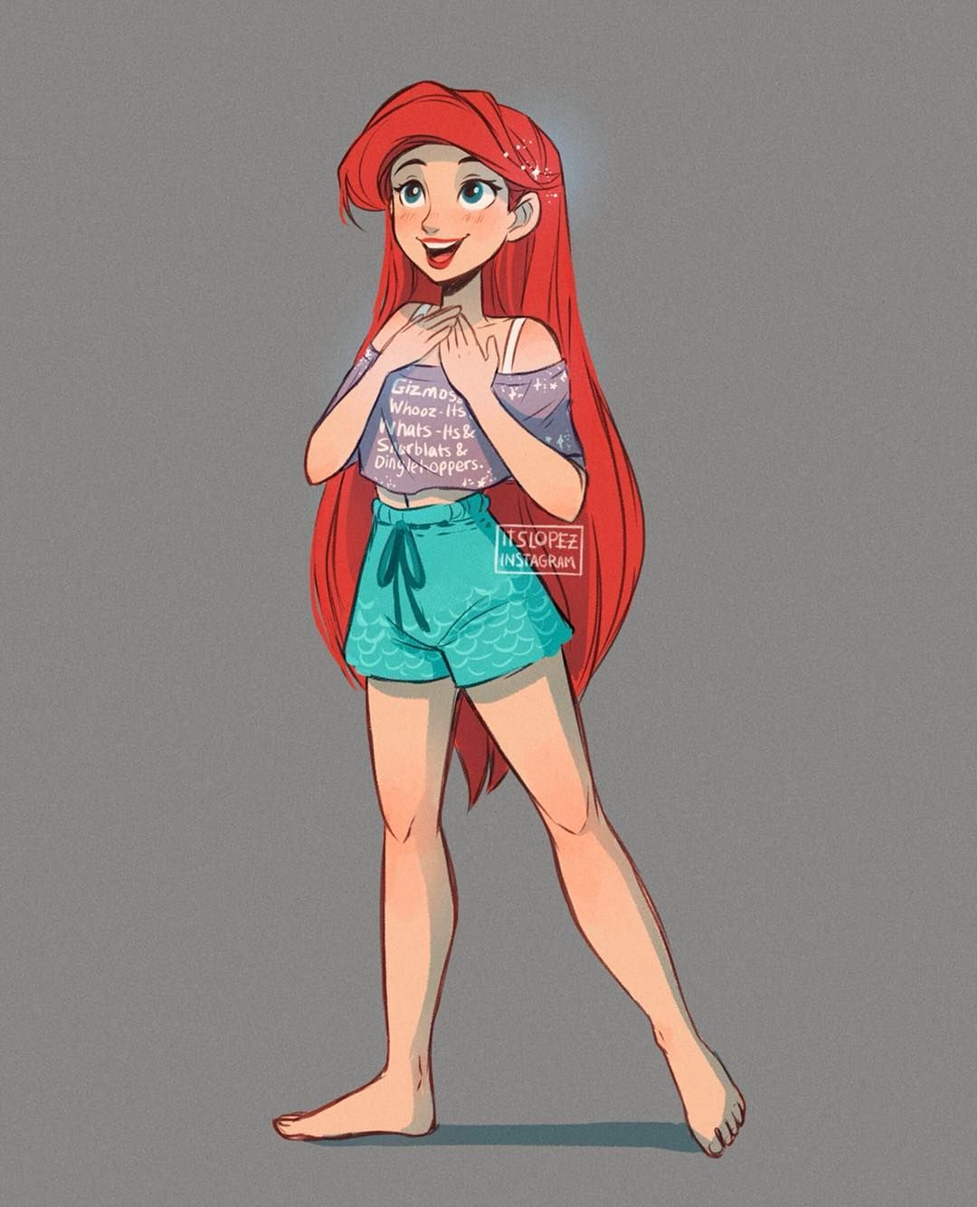 just watched Wreck it Ralph 2 and I confirm that Ariel's design is the cutest thing🐠