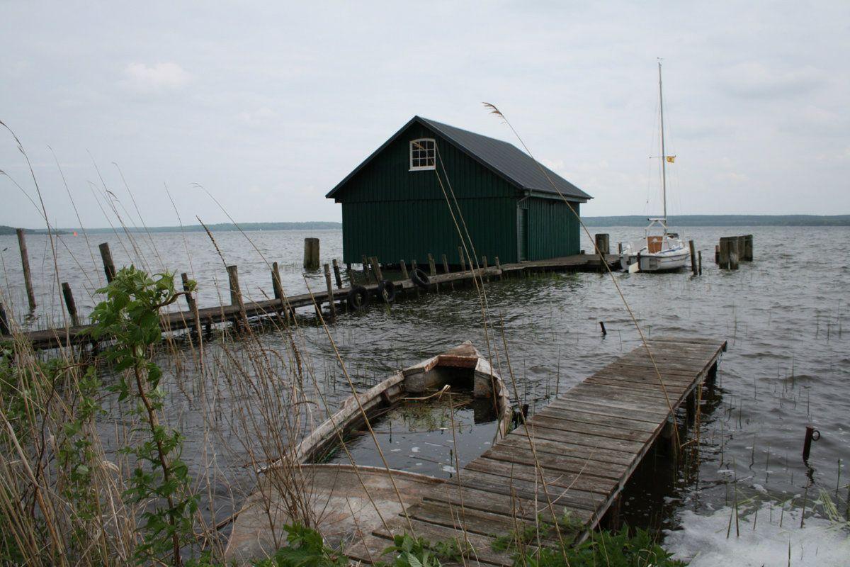 Bootshaus am Plauer See Plauer see, Bootshaus und Seenplatte