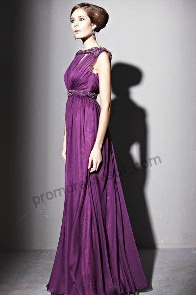purple evening dress - Dress Yp