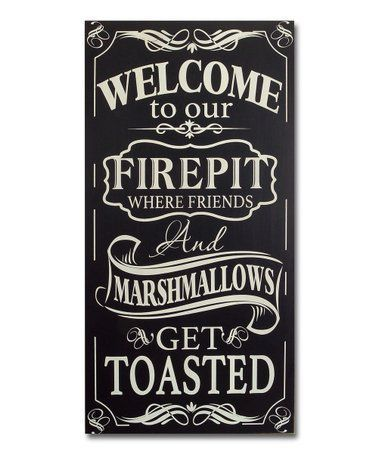 Photo of Take a look at this Fire Pit Wall Sign on zulily today! #metal fire pits scrap #…