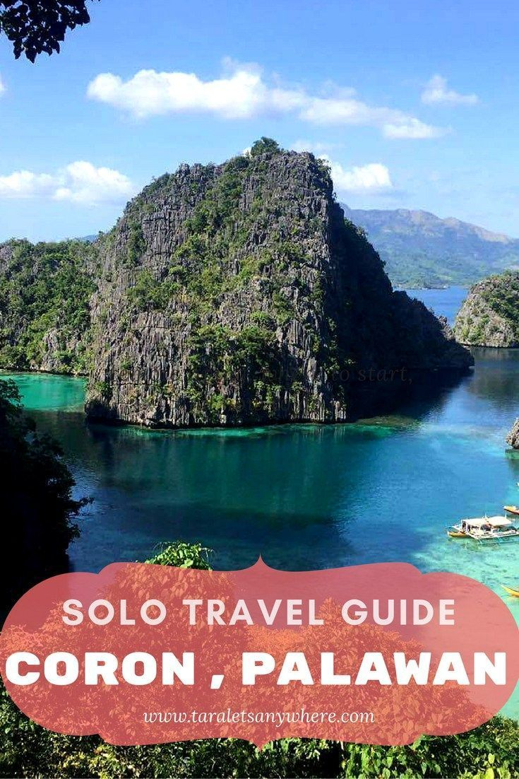 Solo Travel Guide To Coron Palawan  Coron Palawan And Soloing