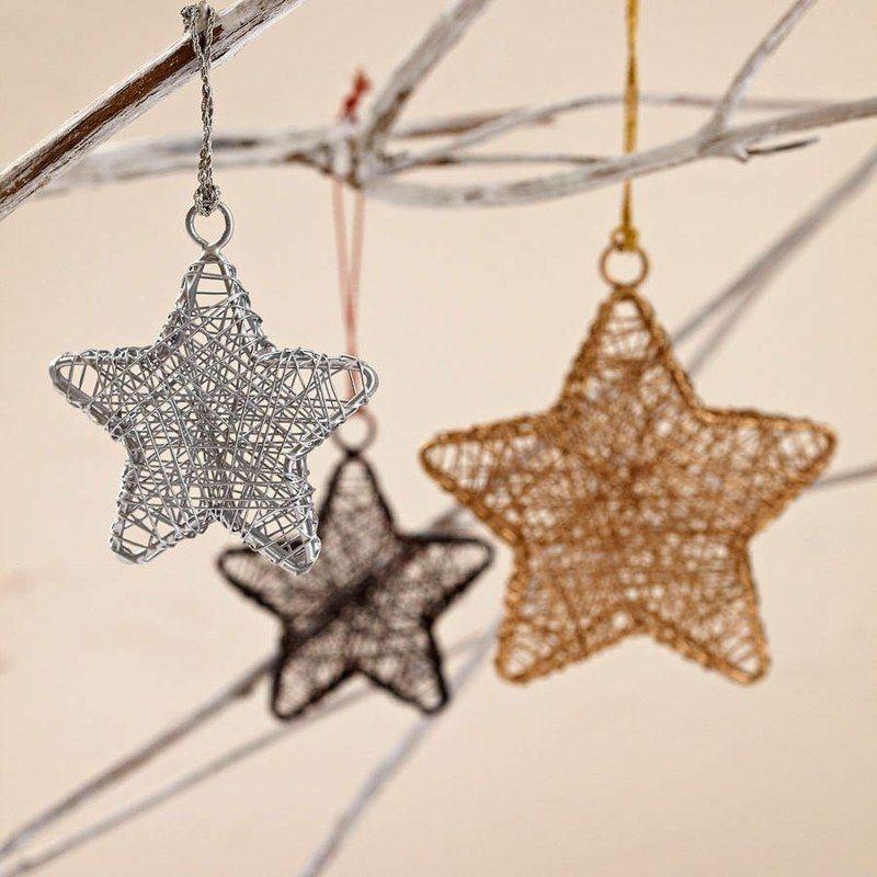 Weihnachtsdeko mit Sternen aus Draht | Ideen | Pinterest | Draht ...