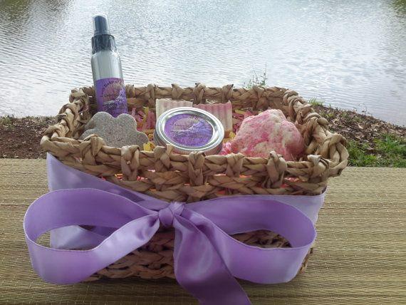 Gift Basket for her Handmade Soap Sugar Scrub Bath by LushSoapofGa