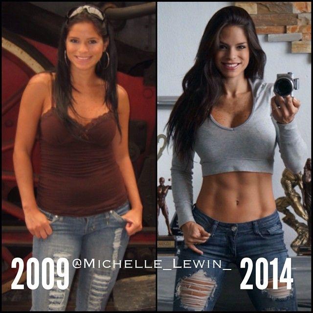 Michelle Lewin Antes Y Despues Motivacion Motivación Para Fitness Femenino Inspiración Entrenamiento Entrenamiento Modelo
