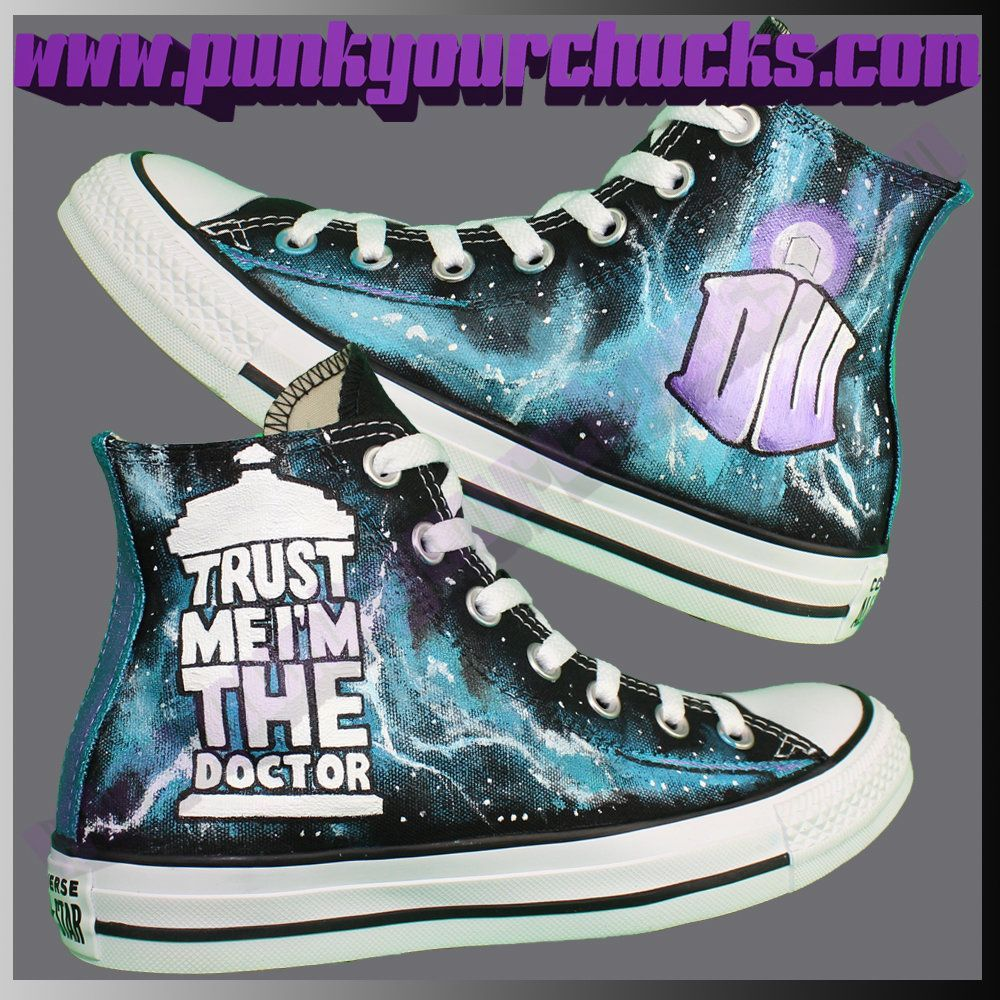 NEW DESIGN! Dr. Who Custom Converse Sneakers available to buy here    DoctorWho  DrWho  PeterCapaldi  JodieWhittaker  chucks e85969fb6