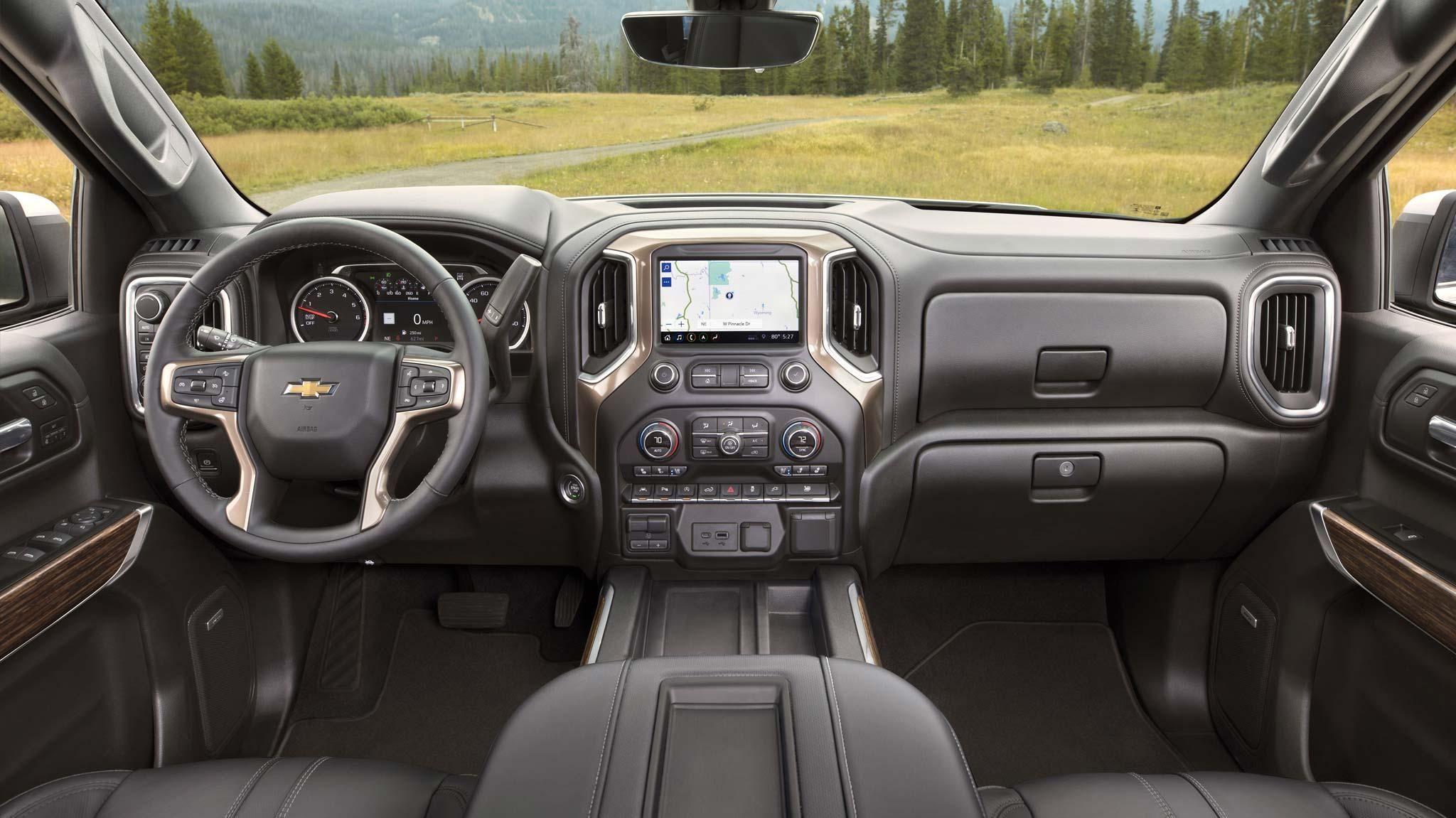 2019 Chevy Silverado High Country Interior Design In 2020 Chevy Silverado Pickup Trucks Silverado