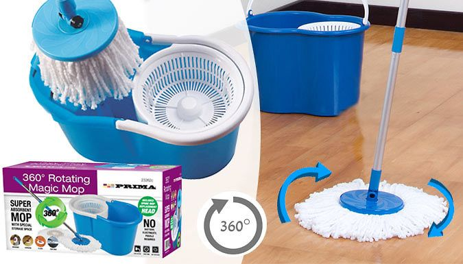 Buy 360 Dual Spin Mop with 2 Microfibre Heads UK deal for just ...