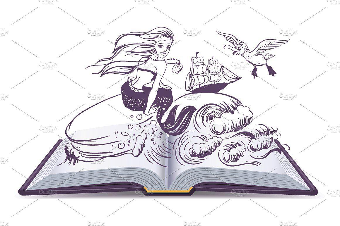 Set Open Book Fairy Tale Fairy Book Fairy Tales Open Book